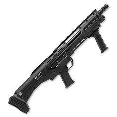 "Standard Manufacturing DP-12 Double Barrel Pump Repeater Shotgun, 12 Gauge, 19"" Barrels 16 Rounds Black Synthetic Stock Black Finish"