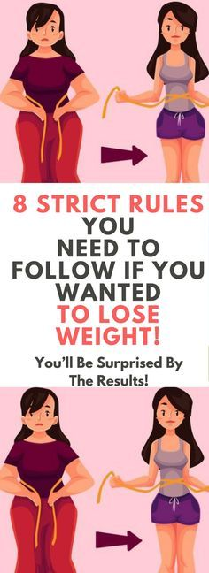 8 STRICT RULES YOU NEED TO FOLLOW IF YOU WANTED TO LOSE WEIGHT! !!!
