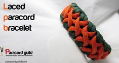 How to make a laced paracord bracelet.