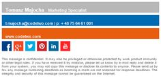 How to insert hyperlinked social media buttons into your business email signature.