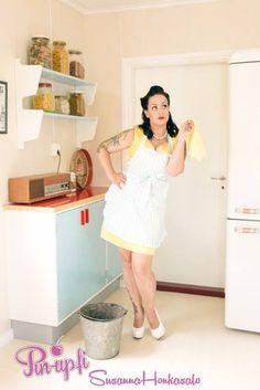 Photo by Susanna Honkasalo. Jewerly: Ibero.  50's - 50's kitchen - vintage - pin-up