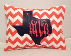 A personal favorite from my Etsy shop https://www.etsy.com/listing/236352648/texas-home-throw-chevron-pillow-decor