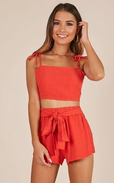 Festival Outfit Hold My Heart Two Piece Set In Red Produced Red Two Piece, Two Piece Dress, Two Piece Outfit, Trendy Outfits, Spring Outfits, Cute Outfits, Fashion Outfits, Girly Outfits, Fashion Clothes