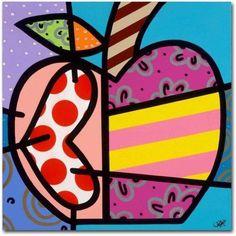 Trademark Fine Art 'Big Apple II' Canvas Art by Roberto Rafael, Size: 18 x 18, Multicolor