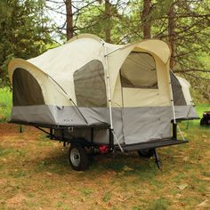 AND you can fold the tent into the bottom of the trailer and haul ATVs or whatever camping stuff you want on top! :-) So much better than a pop-up trailer.