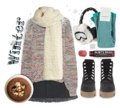 """""""Wintry Days...."""" by angiesprad ❤ liked on Polyvore featuring Acne Studios, I Love Mr. Mittens, Karl Lagerfeld and Burt's Bees"""