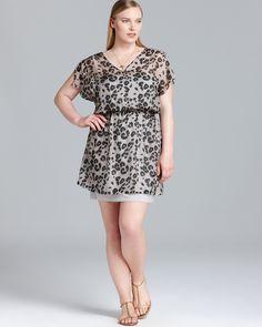 3904a8db0a BB Dakota Plus Animal Print Chiffon Dress Women - Plus - Dresses -  Bloomingdale s