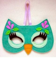 Felt masks. Girl owl.
