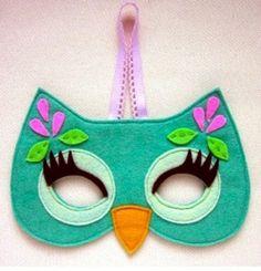 Felt masks. Girl owl.