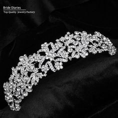 Qualified Black Crystals Bling Bling Womens Tiaras And Crown Flowers Shape Rhinestones Vintage Hair Headbands Bridal Hair Accessories Factories And Mines Jewelry Sets & More Jewelry & Accessories