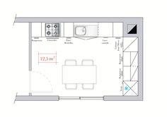 Cuisine en L 12 m2
