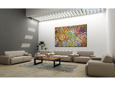 "ABORIGINAL ART PAINTING by GLORIA PETYARRE ""BUSH MEDICINE LEAVES"" 200 x 137 cm"