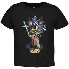 Star Wars - Clone Wars Yoda And Army Juvy T-Shirt | OldGlory.com