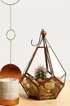 Copper Teardrop Terrarium