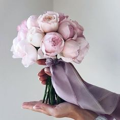 Just take a look at these amazing flowers! Silk Wedding Bouquets, Flower Bouquet Wedding, Dusty Rose Wedding, Floral Wedding, Peonies Season, Flower Arrangements Simple, Peonies Bouquet, Peony, Flower Corsage