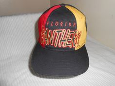 Vintage 90s NHL Florida Panthers Starter Tri-Power Snapback Hat Cap Florida  Panthers 69c9f54d9873