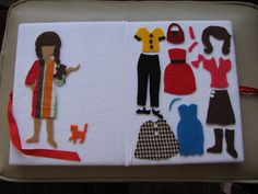 Proverbs 17:22: dress up felt dolls with flannel book