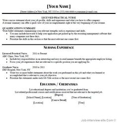Licensed Practical Nurse Sample Resume Template  Resumes