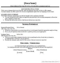 Entry Level LPN Resume Sample Nursing Pinterest
