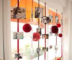 Tiras de flores con fotografias