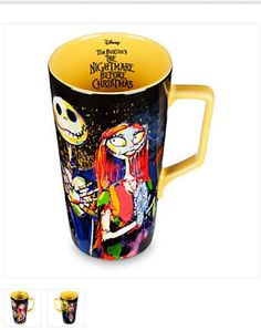 DISNEY - Jack and Sally Nightmare Before Christmas Latte Mug.