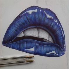 Explore amazing art and photography and share your own visual inspiration! Cool Art Drawings, Pencil Art Drawings, Realistic Drawings, Art Drawings Sketches, Colorful Drawings, Pen Art, Marker Art, Kiss Art, Color Pencil Art