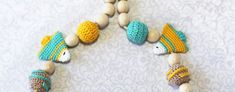 Turtle necklace Teething necklace Nursing necklace for Mommy Baby shower gift Pregnancy gift Mom to be gift New baby gift New mom gift Maternity gift Teething toy Sensory toy Organic toy  This teething necklace will be an original gift for new mom !  Handmade crochet nursing