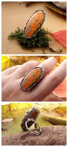 Bumblebee Jasper by Alice Savage. Handmade artisan jewelry, adjustable size, tiffany, soft solder, bohemian chic
