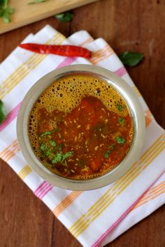 Udupi tomato rasam is my favorite rasam and a delight during the winter months. - Udupi tomato rasam is my favorite rasam and a delight during the winter months. Veg Recipes, Curry Recipes, Indian Food Recipes, Cooking Recipes, Mexican Recipes, Cooking Ideas, Quick Recipes, Recipies, Cooking Dishes