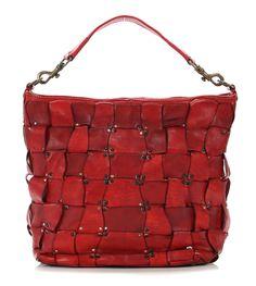 Lavata Beuteltasche Leder rot 32 cm