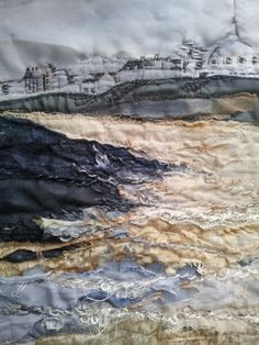 Giclee Textile Art Print 'Whitley Bay Sands' by LauraEdgarTextiles, £60.00