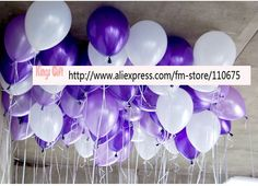 Free shipping -  balloons / balloon wedding decoration  200pcs per set/ purple balloon, bulk balloons party balloon idea