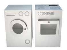 Cardboard Washing Machine & Stove by  Nume