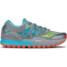 0a3288ae76a4 Saucony Women s Xodus ISO Shoe - 8.5 - Grey   Blue   Slime Blue Slime