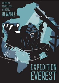 Expedition Everest Attraction Poster by Rob Yeo