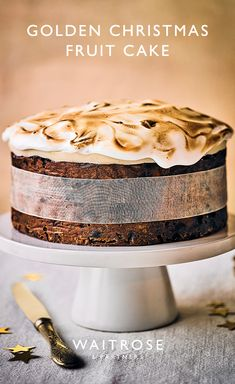 Delicious Cake Recipes, Yummy Cakes, Dessert Recipes, Christmas Recipes, Cooking Recipes For Dinner, Vegetarian Cooking, Easy Cooking, Healthy Cooking, Christmas Cake Recipe Traditional