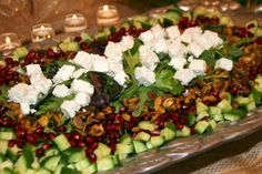 This refreshing Pomegranate Salad makes a beautiful presentation. http://cookingwithmelody.com/all-recipes/soups-salads/pomegranate-salad/