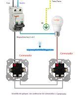Esquemas eléctricos: Esquema encendido de apliques con combinación de c...
