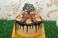 Chocolate Cake with mocca cream and choco drip