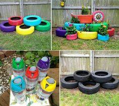 40 ideias de artesanatos com reciclagem de pneus usados!Ideias para você se inspirar, reciclar e fazer o reaproveitamento de pneus velhos em casa ou para