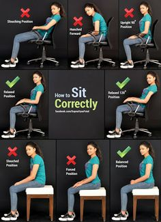 You will look younger, fitter and taller instantly and other people will see you as more energetic and confident. (Bad Posture Fix To Get) Posture Fix, Posture Exercises, Better Posture, Good Posture, Improve Posture, Proper Sitting Posture, Scoliosis Exercises, Fitness Workouts, Sport Fitness