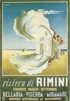 Vintage Beach Posters, Vintage Italian Posters, Poster Vintage, Advertising Poster, Vintage Holiday, Belle Epoque, Art Deco Fashion, Painting, Illustrations