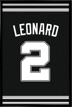 Kawhi Leonard Number 2 San Antonio Spurs Jersey Art Print Perfect gift for Father's Day #inspirational #jerseyart #poster #fathersday #sanantoniospurs #mancave #nba #memorabilia