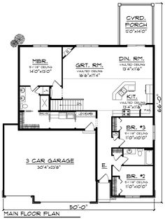 Ranch Level One of Plan 96123