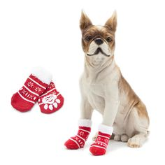 Shape Non-Slip Knit Pet Cat Socks Soft Warm Dog Accessories - SultanBox Christmas Gifts For Pets, Dog Christmas Stocking, Christmas Animals, Christmas Cats, Holiday Socks, 1st Christmas, Christmas Jacket, Non Slip Socks, Cat Shoes