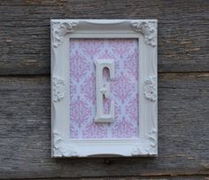 Baby Girl Nursery / Monogram Wall Letter / by hydeandchicboutique, $24.99