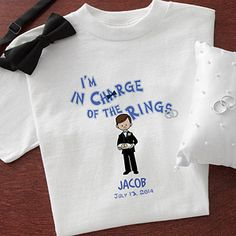 Our Ring Bearer Personalized Character T-Shirt