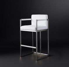 Wexler Square Fabric Stool