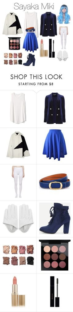 """Sayaka Miki from Puella Magi Madoka Magica(in magical girl form)"" by tori-camilleri on Polyvore featuring Gap, Dorothy Perkins, Balenciaga, WithChic, Illamasqua, MAC Cosmetics, L'Oréal Paris and Gucci"