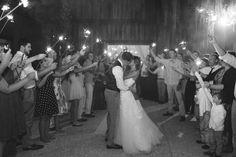 Sparkler sendoff at the Cotton Dock. Devon & Michael { Boone Hall Plantation Wedding } - RIVERLAND STUDIOS